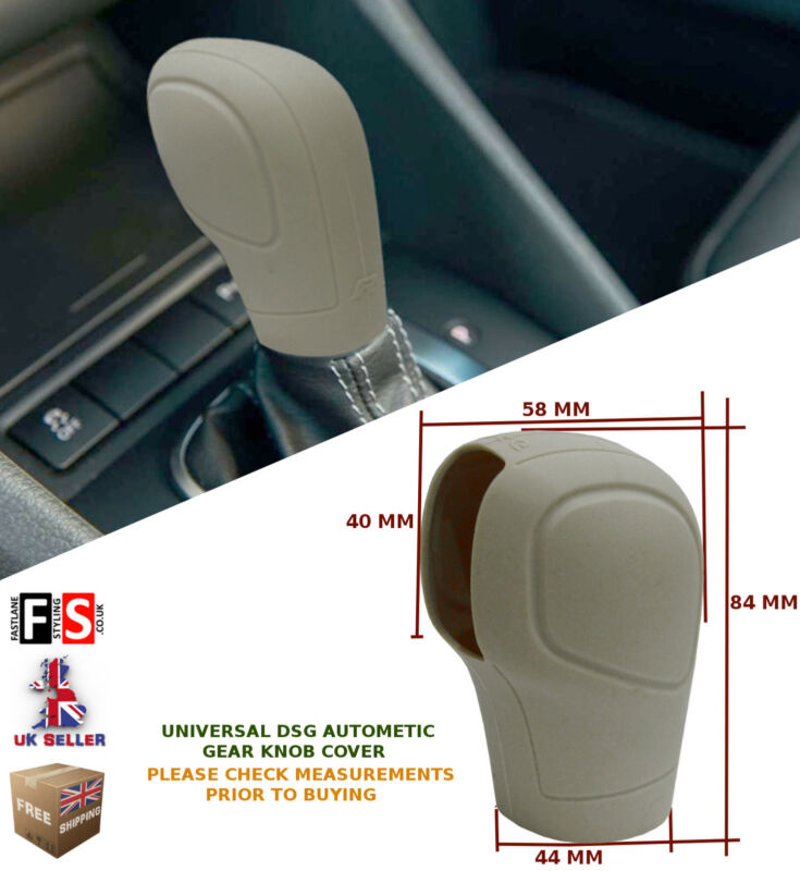 UNIVERSAL AUTOMATIC CAR DSG SHIFT GEAR KNOB COVER PROTECTOR BEIGE–Lexus