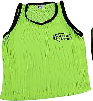 72c35ebc9 Set 6 PRO QUALITY scrimmage vests pinnies ADULT yellow Soccer Football  training