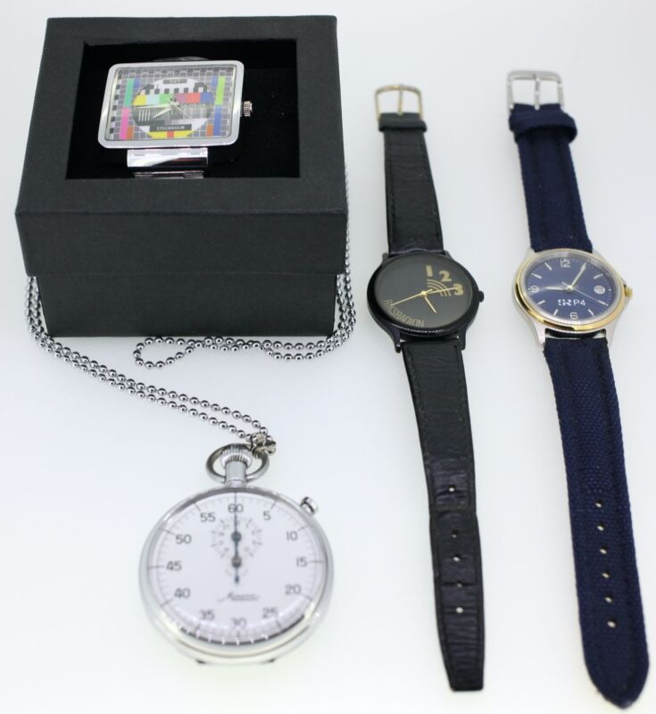 VINTAGE SWEDISH WATCH BUNDLE-4 VERY RARE ITEMS-MINERVA STOPWATCH INCLUDED