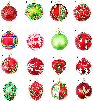 SELECTION GISELA GRAHAM RED GREEN BALL EGG BAUBLE CHRISTMAS TREE  DECORATION](Gisela Graham Halloween Decorations)