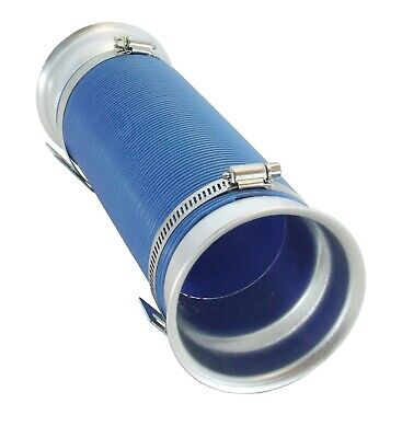 EASY FIT UNIVERSAL PERFORMANCE COLD AIR FEED INTAKE PIPE BLUE WITH CHROME RAMS