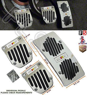 3pcs UNIVERSAL MANUAL CAR FOOT PEDAL PAD COVER NON SLIP ALUMINIUM–Smart