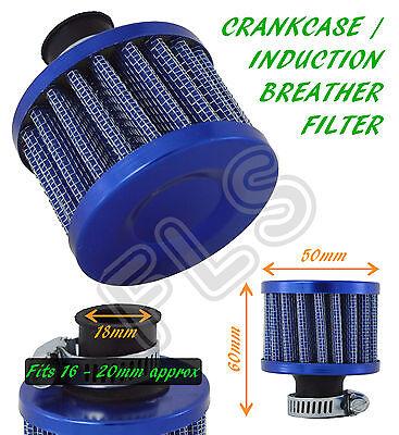 UNIVERSAL OIL MINI BREATHER AIR FILTER-FUEL CRANKCASE ENGINE CAR-BLUE–Audi 1