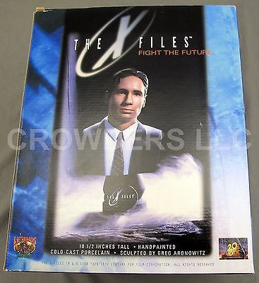 "X Files Fight the Future Agent Mulder 10.5"" Statue Bust Legends in 3D Aronowitz"