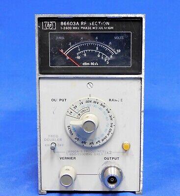 Agilent Hp Keysight 86603a Rf Generator Module For 8660a Or 8660c Untested