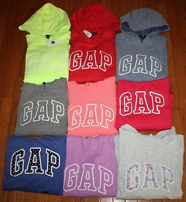 NEW NWT Womens GAP Arch Logo Pullover Hooded Sweatshirt Hoodie CHOICE 16 COLORS