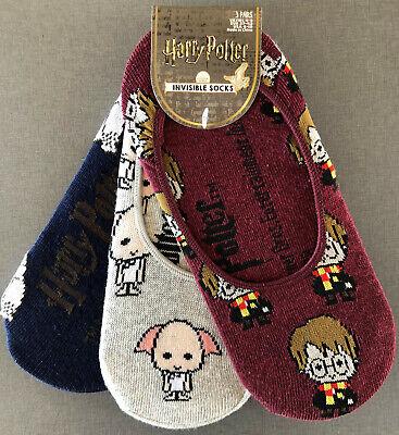 3 Paar Harry Potter Dobby Eule Hedwig Damen Sneaker Socken Strümpfe Pack Primark (Harry Potter Eule Hedwig)