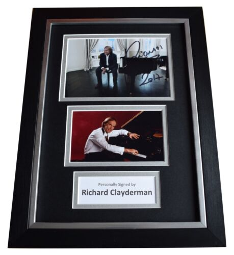 Richard Clayderman Signed A4 FRAMED Autograph Photo Display Piano Music COA