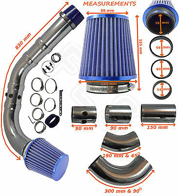 UNIVERSAL PERFORMANCE COLD AIR FEED INDUCTION INTAKE KIT 2103007B – Ford 1