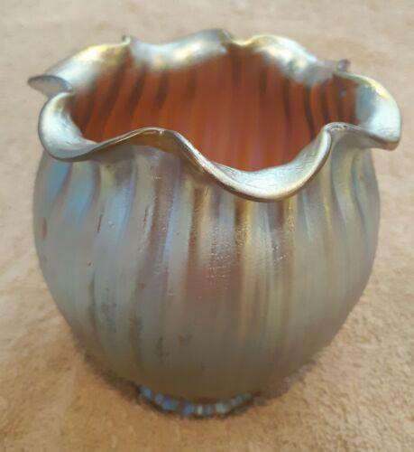 Loetz Gold Candia Silberiris Iridescent Antique Art Nouveau Glass Lamp Shade