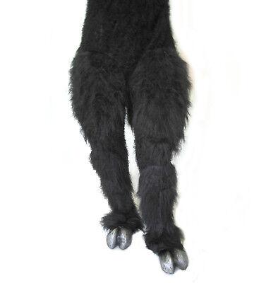 Legs & Hooves Black Hairy Pants & Feet Beast Adult Zagone Halloween Costume (Beast Adult)
