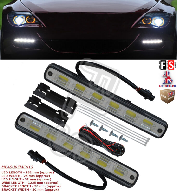 UNIVERSAL LED DRL LIGHTS DAYTIME RUNNING LIGHTS FOG COB WATERPROOF-Lexus