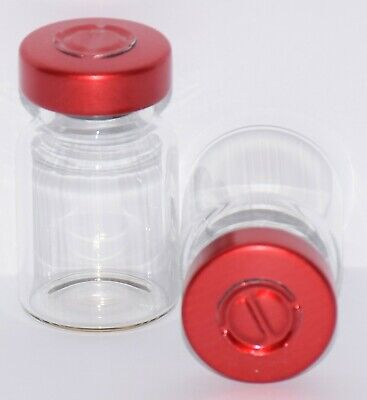 USP 5 mL Clear Sterile Vial with Red Center Tear Seal 4 Pack