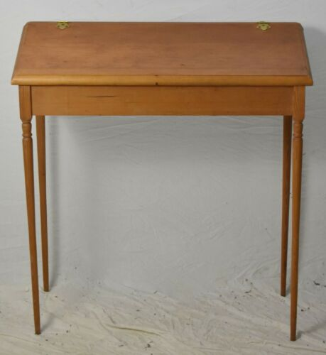 Primitive Style Oak Slant Front Desk Sheraton Style Federal Style