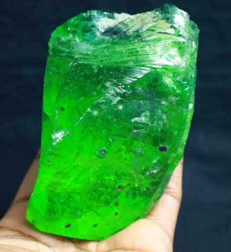 Natural Tsavorite Green Garnet Rough Specimen Gemstone 1995 Ct Certified JN897
