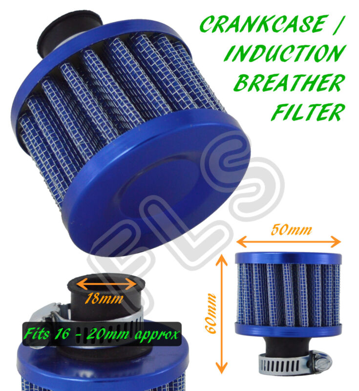 UNIVERSAL OIL MINI BREATHER AIR FILTER-FUEL CRANKCASE ENGINE CAR-BLUE–Lexus