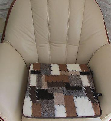 Patchwork-sitzkissen (Stuhlkissen Set 2 Stück Patchwork Sitzkissen Sitzunterlage 40x40cm Kaltschaum)