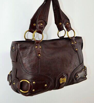 Michael Kors Burgundy Pebbled Leather Handbag