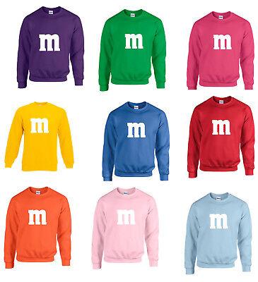 Langarm Sweat Gruppenkostüm Paarkostüm Kostüm für M&M Fans Karneval -