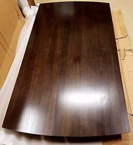 Tasmanian Oak 2.1m Solid Timber Dining Table Walnut NEW & Boxed Officer Cardinia Area Preview