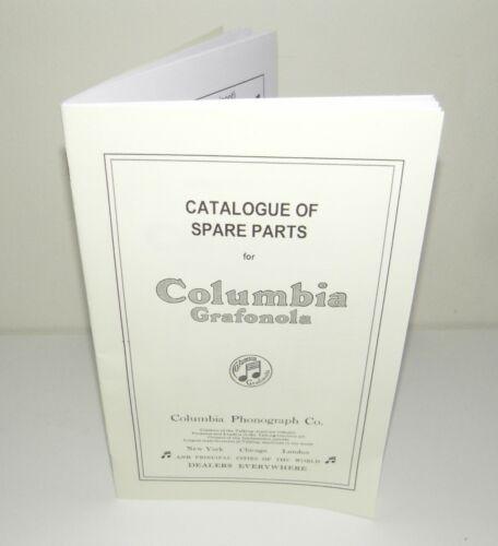 Columbia Grafonola Phonograph Gramophone Spare Parts Catalogue  Reproduction