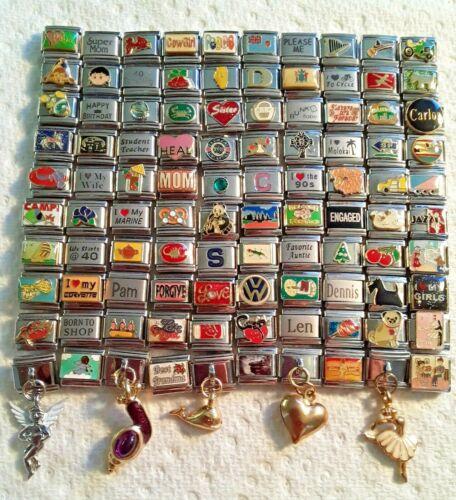 100 Piece ITALIAN  CHARMS 9mm lot # 466 No duplicates -FREE SHIPPING