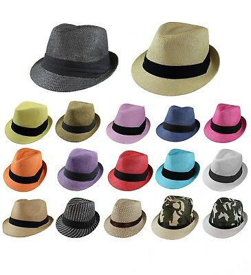 - Gelante Unisex Summer Fedora Panama Straw Hats with Band (Ship in a BOX)