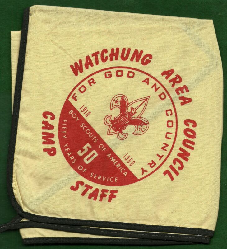 BOY SCOUT NECKERCHIEF1960 WATCHUNG AREA COUNCIL - CAMP STAFF                  XX