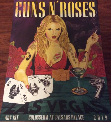 GUNS N ROSES LAS VEGAS COLOSSEUM CAESARS 11/1/19 ONLY 200 MADE POSTER 177/200
