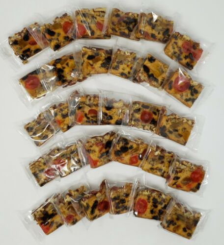 Jane Parker Individually Wrapped Classic Fruit Cake Slices 30 Count Box Free S/H