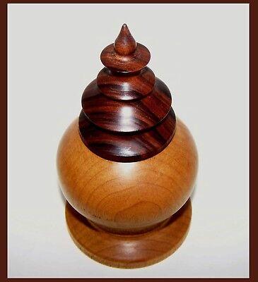 Mark Hardies Ornamental Turning,Turned Box, Woodturned Exotic Wood Trinket Box