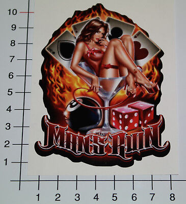 PIN UP MANS RUIN Aufkleber Sticker Retro 8 Ball Oldschool Chopper Biker V8 (Mans Ruin Pin)