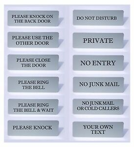 VITAL-SIGNS-Ring-The-Bell-Close-Door-Please-Knock-No-Junk-Mail-House-Office