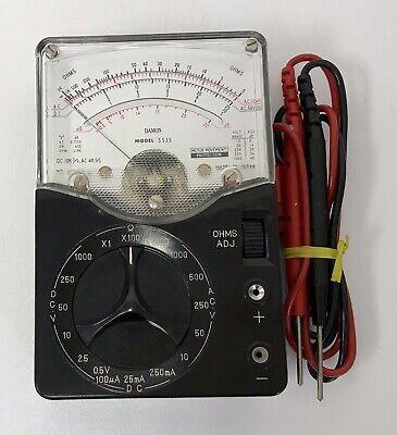 Damon Volt Meter Ac Dc Model 5535 Excellent Condition