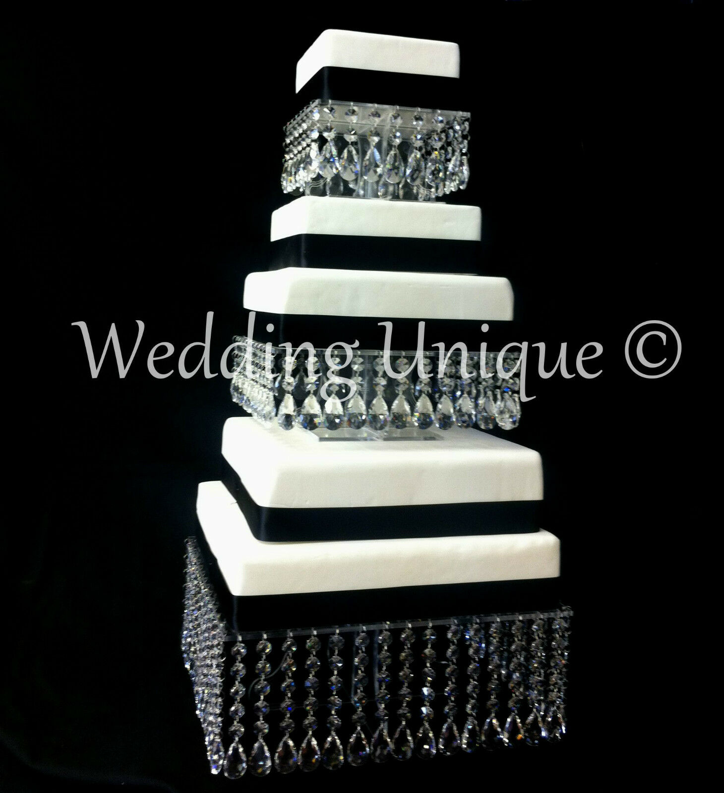 Crystal wedding cake stand square mutiple tier chandelier
