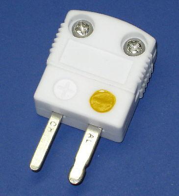 High Temperature Ceramic Miniature Mini K-type Thermocouple Connector Male Plug