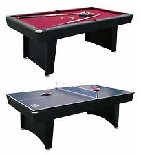 """MD Sports 84"""" Billiard Table and Table Tennis Top Recreation Room Combination"""