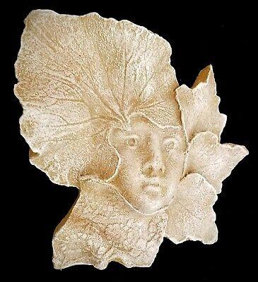 Clearance Green Man Girl Woman Face Leaf Mask Wall Home Garden Decor