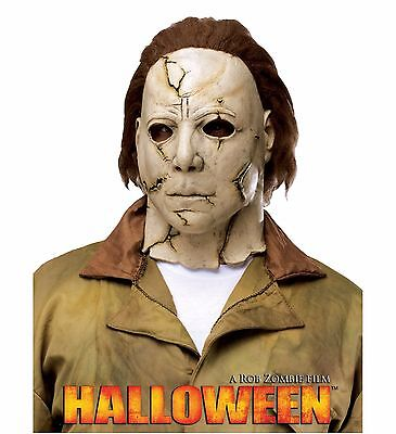 Halloween Michael Myers Latex Mask Rob Zombie Adult Costume Accessory, One Size