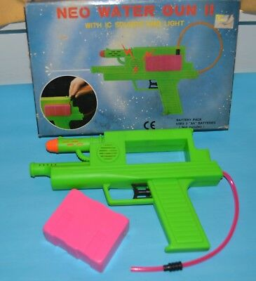 Vintage Space Water Toy Gun Pistol With Sound And Light Battery Operated Box