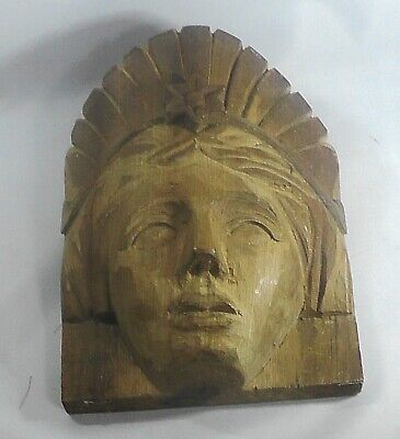 African or Asian Wooden Carving of a Head probably Religious. Well Carved.