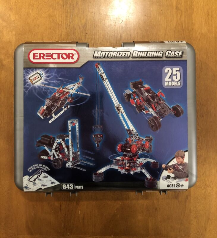 Meccano Erector Set 25-in-1 Motorized Building Case BRAND NEW NEVER OPENED