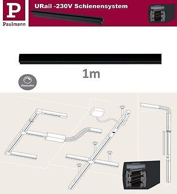 Paulmann URail Schiene 1m Schwarz matt 230V 1-Phasig Metall max 1000W UVP 26,95€