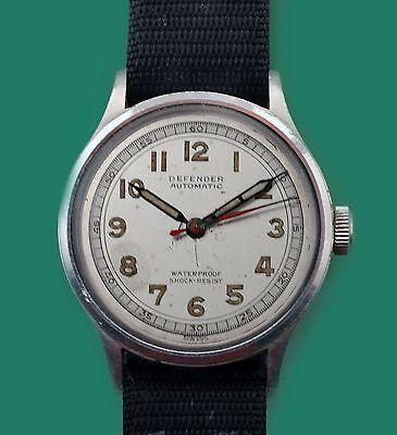 "Vintage 40's Military Bumper Automatic ""DEFENDER""  Men's Super Unusual Watch"