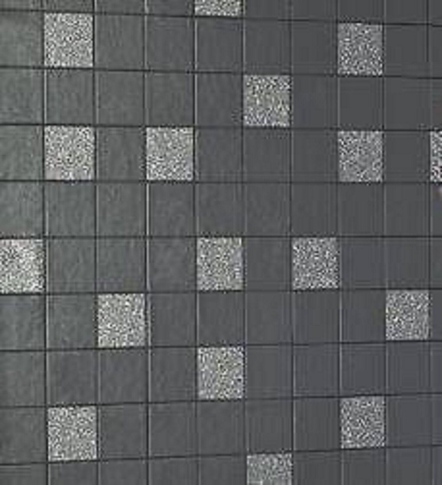 holden fliesen auf einer rolle granit schwarz tapete 89130 ebay. Black Bedroom Furniture Sets. Home Design Ideas