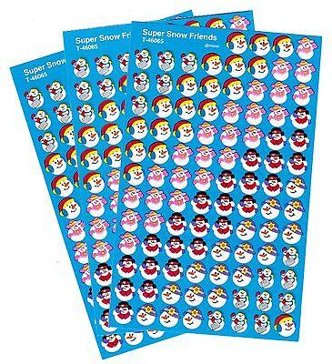 3 Sheets WINTER Snowman Friends Hats mittens MINI 300 Scrapbook Stickers!! - Mini Snowman Hats