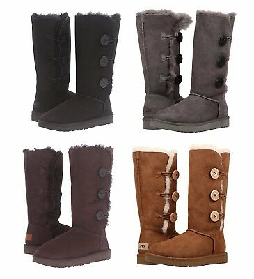 NEW Authentic UGG Women's Tall Bailey Button Triplet II Boots Shoes   Authentic Ugg Boots
