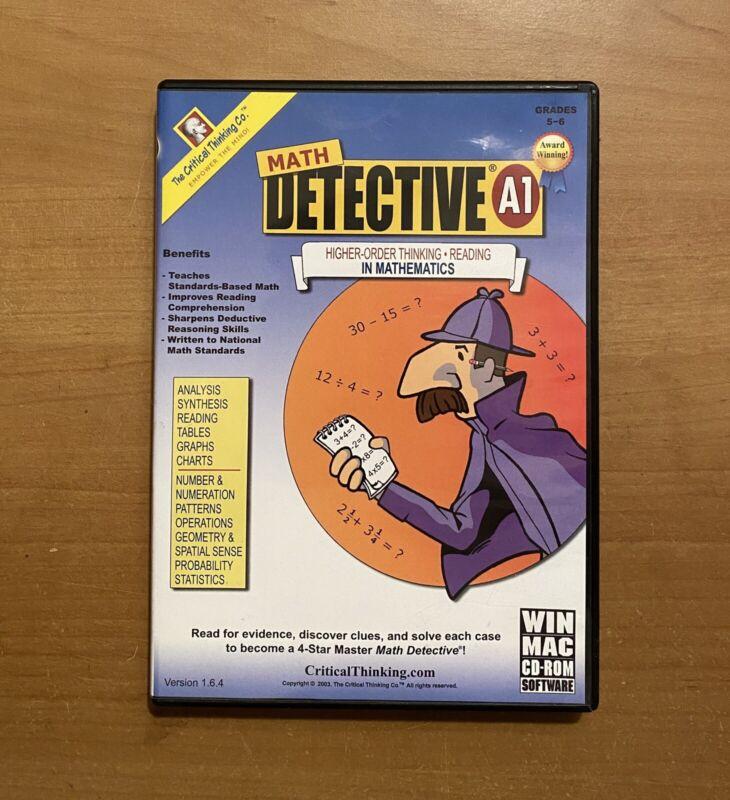Math Detective A1: Grades 5-6 Computer Software