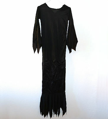 Kostüm, Kleid, Morticia Addams, Addams Family, lang, schwarz, 34, XS S, (Morticia Addams Kostüm)