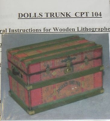 Dollhouse Miniature Trunk kit Lithograph Dolls Cats Paw 1:12